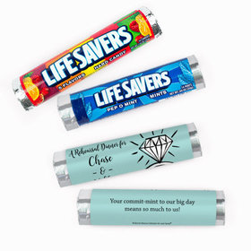 Personalized Bonnie Marcus Rehearsal Dinner Last Fling Lifesavers Rolls (20 Rolls)