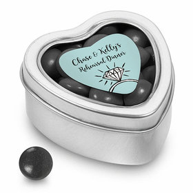 Bonnie Marcus Collection Personalized Small Heart Tin Last Fling Rehearsal Dinner Favor (25 Pack)