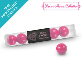 Bonnie Marcus Collection Personalized Gumball Tube Sweetheart Swirl Rehearsal Dinner (12 Pack)