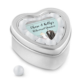 Bonnie Marcus Collection Personalized Small Heart Tin Forever Together Rehearsal Dinner (25 Pack)