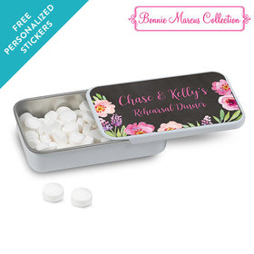 Bonnie Marcus Collection Personalized Mint Tin Floral Embrace Rehearsal Dinner Favors (12 Pack)