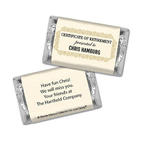 Personalized Bonnie Marcus Collection Retirement Certificate Hershey's Miniatures