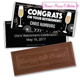Personalized Bonnie Marcus Collection Retirement Cheers Embossed Congratulations Chocolate Bar