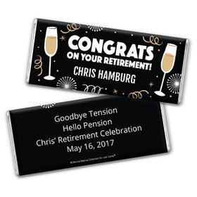Personalized Bonnie Marcus Collection Retirement Cheers Chocolate Bar Wrapper Only