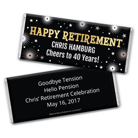 Personalized Bonnie Marcus Collection Retirement Fireworks Chocolate Bar