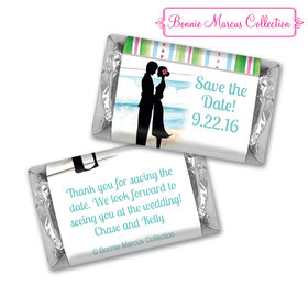Bonnie Marcus Collection Chocolate Candy Bar and Wrapper Tropical I Do Save the Date Candy Bars