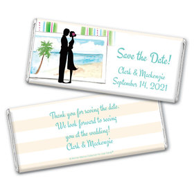Bonnie Marcus Collection Personalized Chocolate Bar Wrappers Chocolate and Wrapper Tropical I Do Save the Date