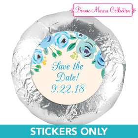 """Bonnie Marcus Collection Here's Something Blue Save the Date 1.25"""" Stickers (48 Stickers)"""