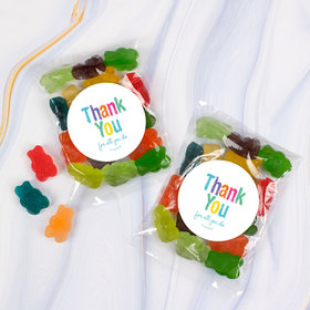 Thank You Candy Bags with Gummi Bears