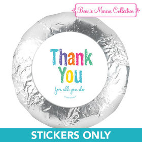 """Bonnie Marcus Collection 1.25"""" Stickers Colorful Thank You (48 Stickers)"""