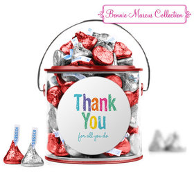 Bonnie Marcus Collection Teacher Appreciation Colorful Thank You Red Paint Can with Sticker
