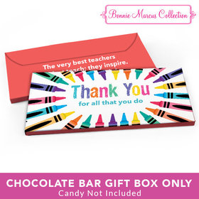 Deluxe Personalized Teacher Appreciation Colorful Thank You Candy Bar Favor Box