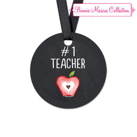 Bonnie Marcus Collection Round Apple Teacher Appreciation Favor Gift Tags (20 Pack)