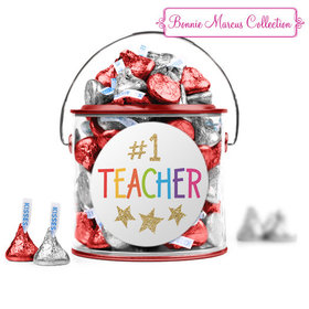 Bonnie Marcus Collection Teacher Appreciation Gold Star Red Paint Can with Sticker
