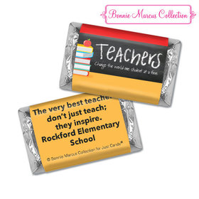 Personalized Bonnie Marcus Collection Teacher Appreciation Books Hershey's Miniatures