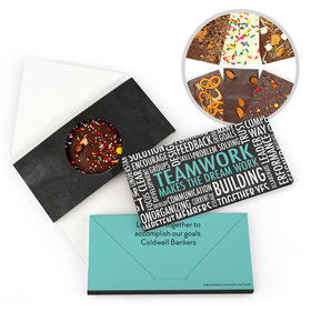 Personalized Teamwork Word Cloud Gourmet Infused Belgian Chocolate Bars (3.5oz)