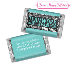 Personalized Bonnie Marcus Collection Teamwork Word Cloud Hershey's Miniatures