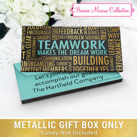 Deluxe Personalized Teamwork Word Cloud Metallic Candy Bar Cover