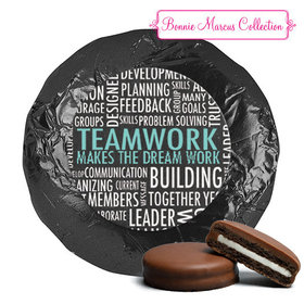 Personalized Bonnie Marcus Collection Teamwork Word Cloud Belgian Chocolate Covered Oreos (24 Pack)
