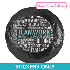 "Personalized Bonnie Marcus Collection Teamwork Word Cloud 1.25"" Stickers (48 Stickers)"