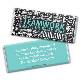 Personalized Bonnie Marcus Collection Teamwork Word Cloud Chocolate Bar