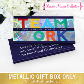 Deluxe Personalized Teamwork Acrostic Candy Bar Favor Box