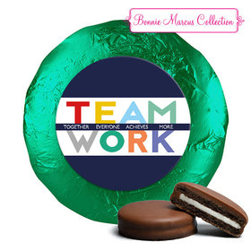Personalized Bonnie Marcus Collection Teamwork Acrostic Belgian Chocolate Covered Oreos (24 Pack)