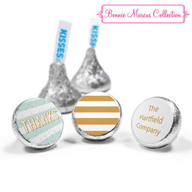 Personalized Bonnie Marcus Thank You Stripes and Dots Hershey's Kisses (50 Pack)