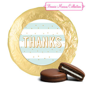 Personalized Bonnie Marcus Thank You Stripes and Dots Chocolate Covered Oreos