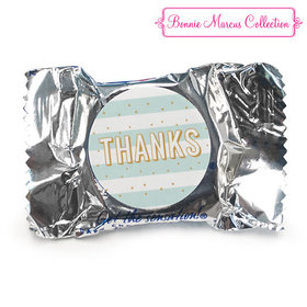 Personalized Bonnie Marcus Thank You Stripes and Dots York Peppermint Patties