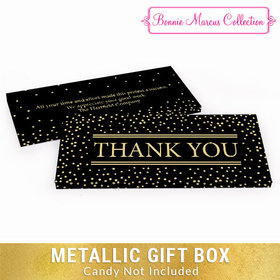Deluxe Personalized Thank You Gold Dots Metallic Candy Bar Cover
