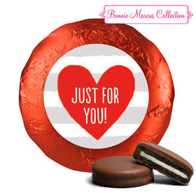 Bonnie Marcus Collection Valentine's Day Stripes Chocolate Covered Oreos (24 Pack)