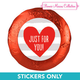 "Bonnie Marcus Collection Valentine's Day Stripes 1.25"" Stickers (48 Stickers)"