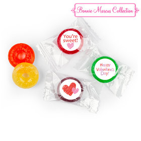 Personalized Valentine's Day Red and Pink Hearts LifeSavers 5 Flavor Hard Candy (300 Pack)