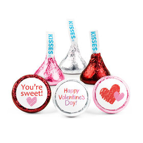 Personalized Bonnie Marcus Valentine's Day Red & Pink Hearts Hershey's Kisses (50 pack)