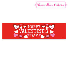 Valentine's Day Bonnie Marcus Solid Red Banner