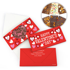 Personalized Bonnie Marcus Valentine's Day Fluttering Hearts Gourmet Infused Belgian Chocolate Bars (3.5oz)