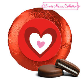 Bonnie Marcus Collection Valentine's Day Inner Heart Chocolate Covered Oreos (24 Pack)