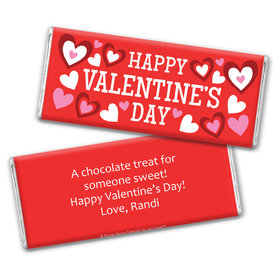 Bonnie Marcus Personalized Valentine's Day Solid Red Chocolate Bar Wrapper
