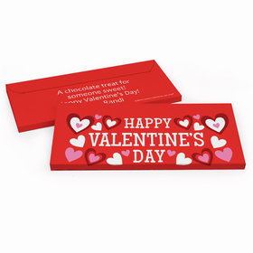 Deluxe Personalized Valentine's Day Hearts Candy Bar Favor Box