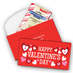 Deluxe Personalized Valentine's Day Hearts Ghirardelli Peppermint Bark Bar in Gift Box (3.5oz)