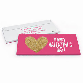 Deluxe Personalized Valentine's Day Glitter Heart Candy Bar Cover