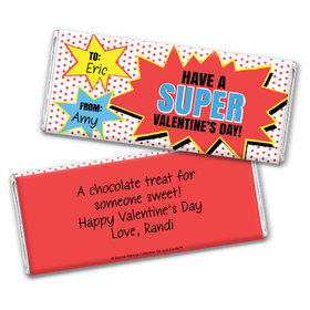 Bonnie Marcus Personalized Valentine's Day Comic Chocolate Bar & Wrapper