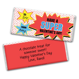 Bonnie Marcus Personalized Valentine's Day Comic Chocolate Bar Wrapper