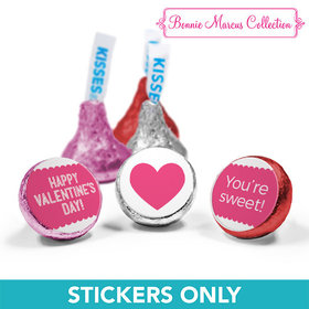 "Personalized Valentine's Day Sweet Treat 3/4"" Stickers (108 Stickers)"