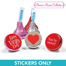 "Personalized Valentine's Day Cute Hearts 3/4"" Stickers (108 Stickers)"
