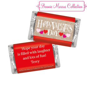 Bonnie Marcus Personalized Valentine's Day Cute Hearts Hershey's Miniatures