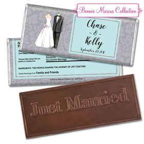 Bonnie Marcus Collection Personalized Embossed Chocolate Bar Wedding Favors Forever Together Wedding