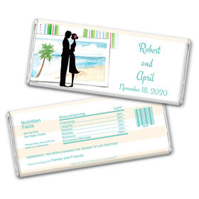 Bonnie Marcus Collection Personalized Chocolate Bar Wrappers Wedding Favors Tropical I Do Wedding