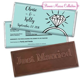 Bonnie Marcus Collection Personalized Embossed Chocolate Bar Chocolate and Wrapper Last Fling Wedding Favors